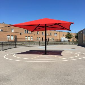 Red Playground Shade Umbrella