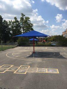 Blue Playground Shade Umbrellas
