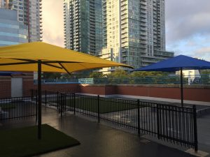 Blue Playground Shade Umbrella
