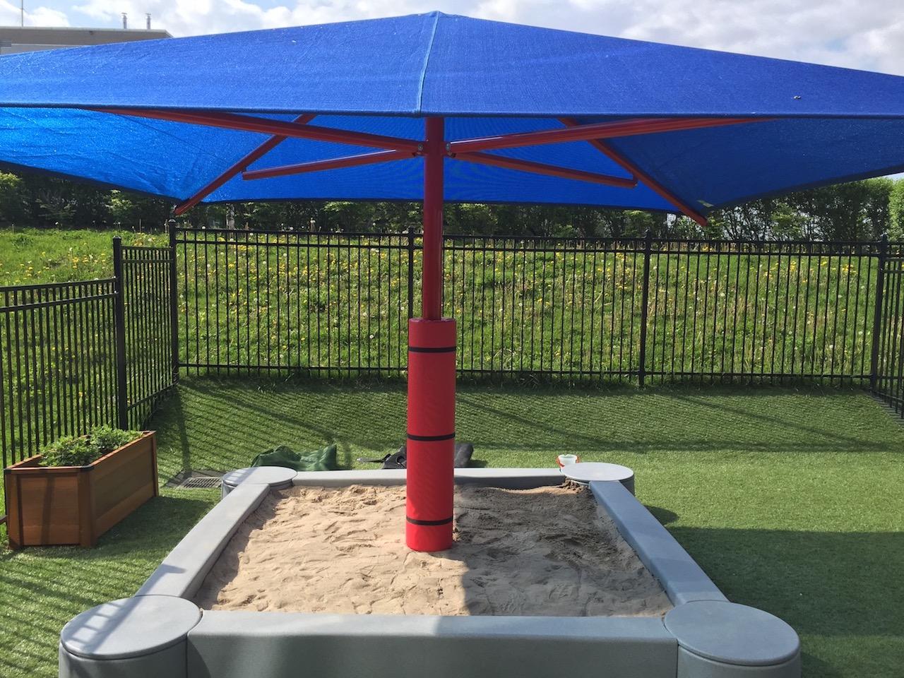 Blue Playground Shade Umbrella