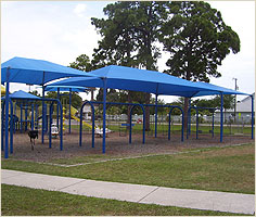 Blue Playground Shade Structure